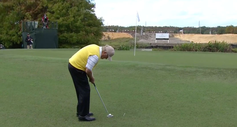 Nicklaus Sinks Putt From Well Off The Green
