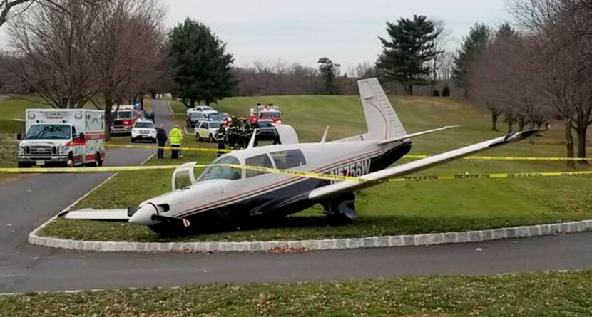 Plane Makes Emergency Landing On New Jersey Course