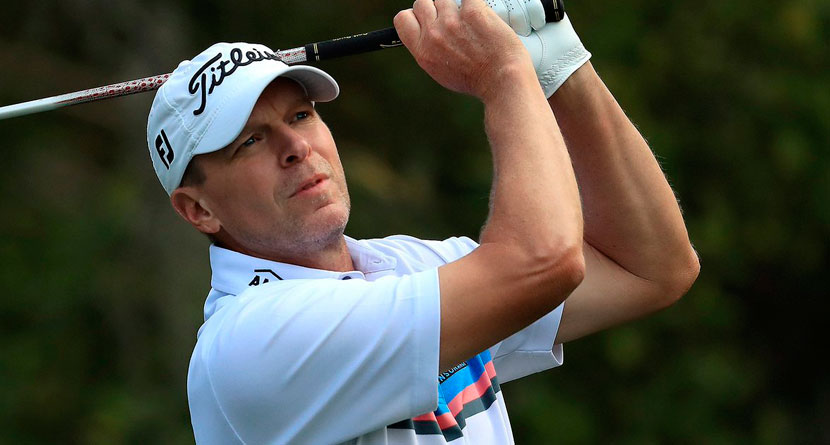 Stricker Holes Out For Eagle En Route To 62