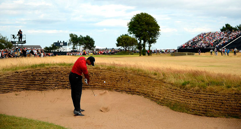 Tiger's Best Shots Of 2018: Tiger's Bunker Shot At The Open