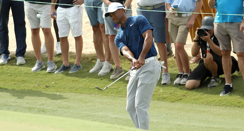 DJ, Tiger Struggle To Chip From Tight Lies