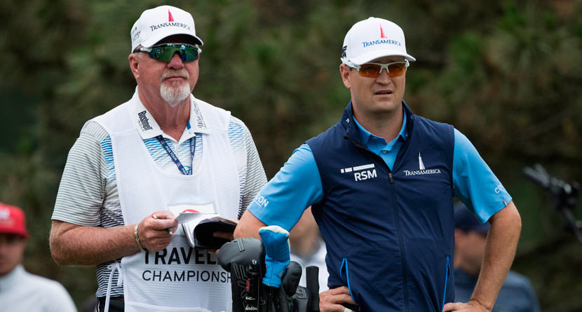 "Johnson ""Shocks"" Longtime Caddie Green With Split"