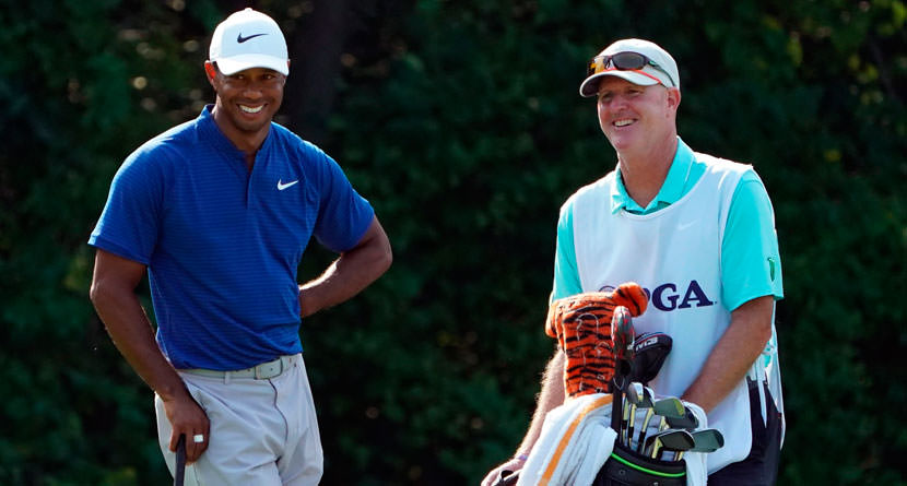 Tiger And LaCava Reflect On Relationship