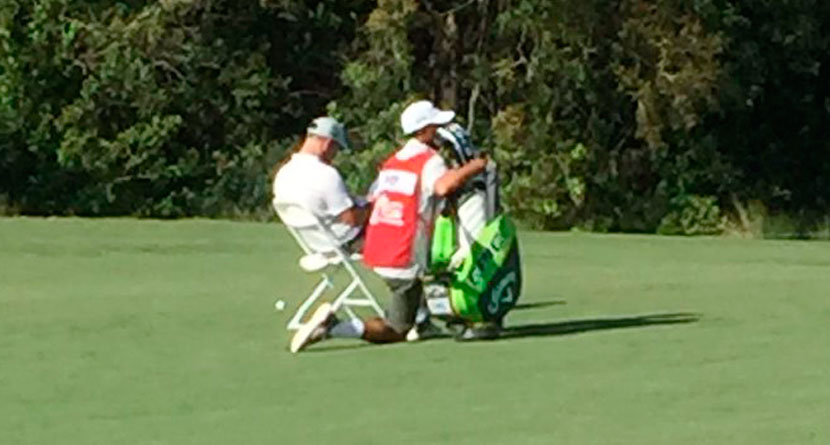 Pro Protests Slow Play By Bringing Chair To Fairway