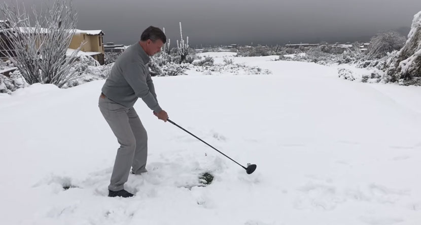 Snow Storm Slams, Closes Phoenix Courses