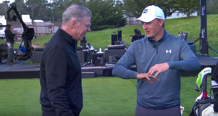 Spieth Shows Off Mangled Fingers On DP Show