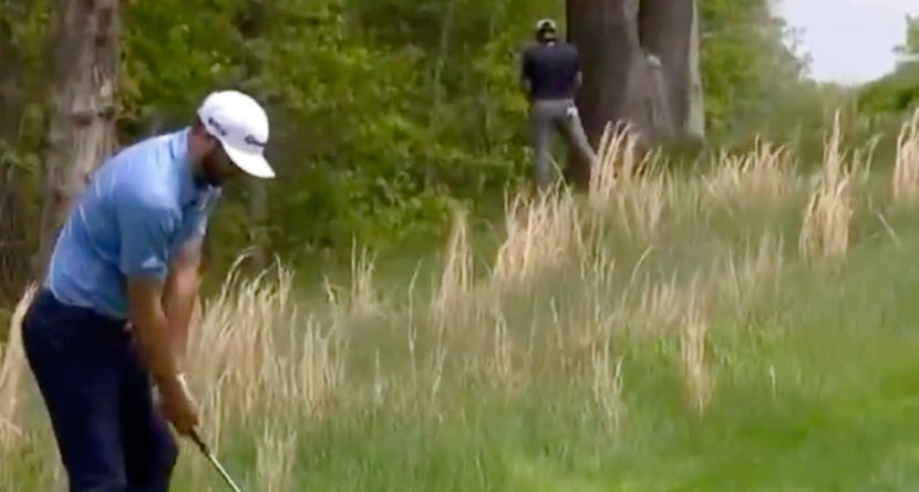 Rahm Caught By Cameras Urinating On The Course