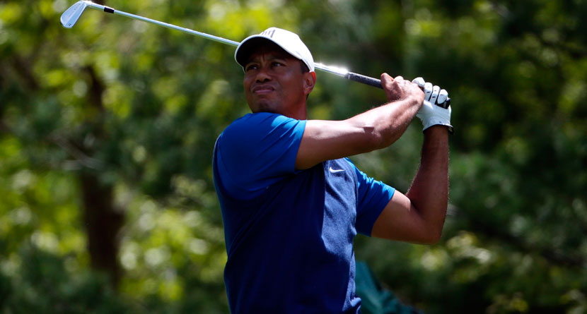 Tiger's Roller-Coaster Round Leaves Him 9 Back