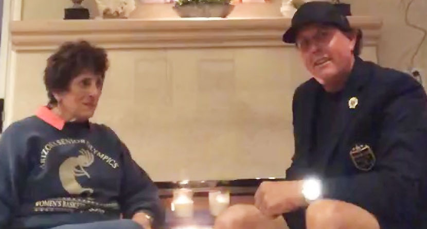 Mickelson's Mother Shares Funny Phireside Story