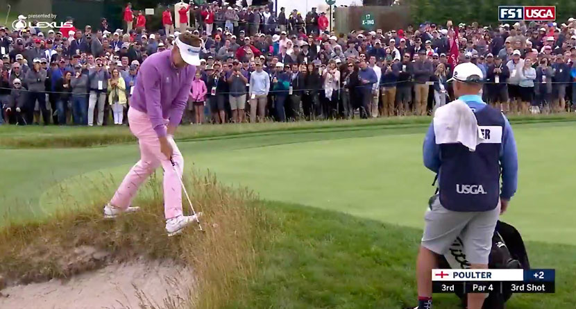 Poulter Whiffs From Terrible Lie To Doom Chances