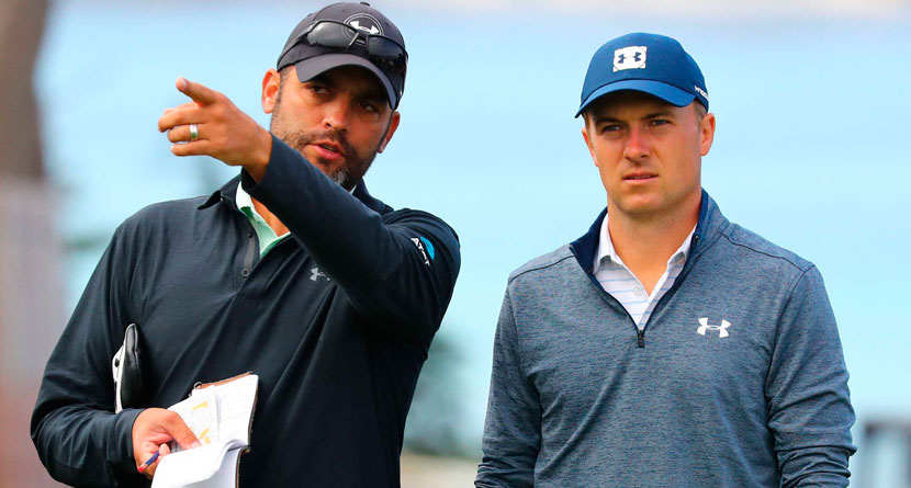 "Spieth Berates Caddie After ""Two Perfect Shots"""