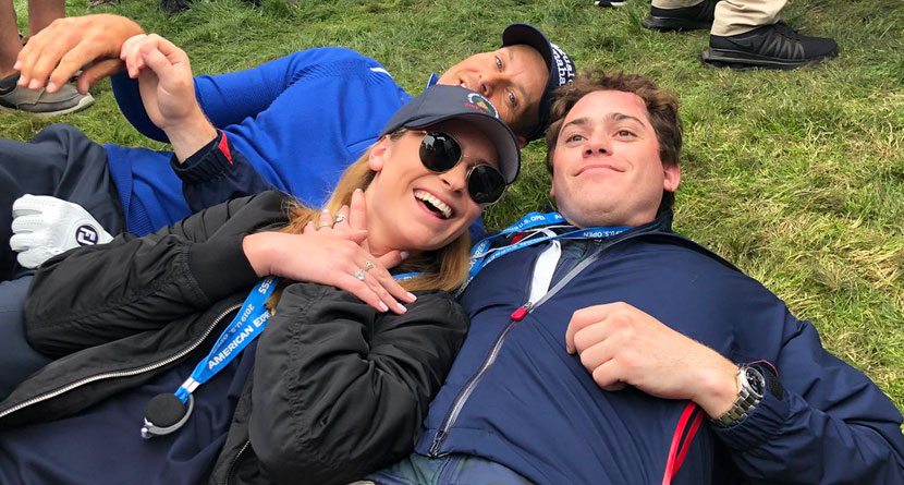 Stenson Lies Down For Picture With Injured Fan