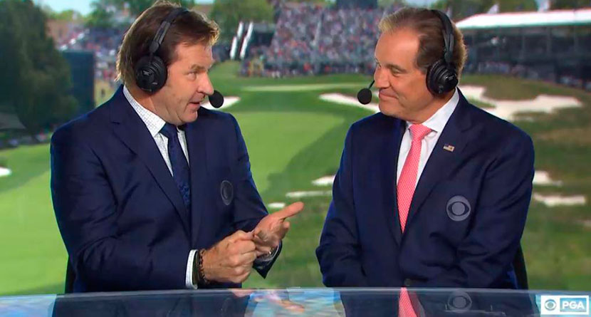 Nantz Caught Impersonating Faldo On Air