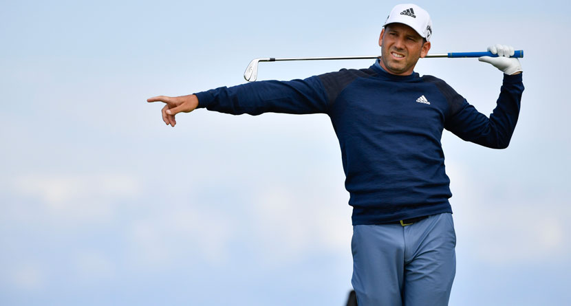 Sergio Whips Driver At Caddie After Bad Drive
