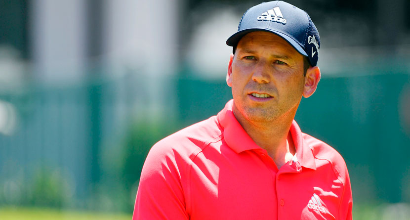 Sergio Damages Tee At WGC-FedEx After Wayward Drive