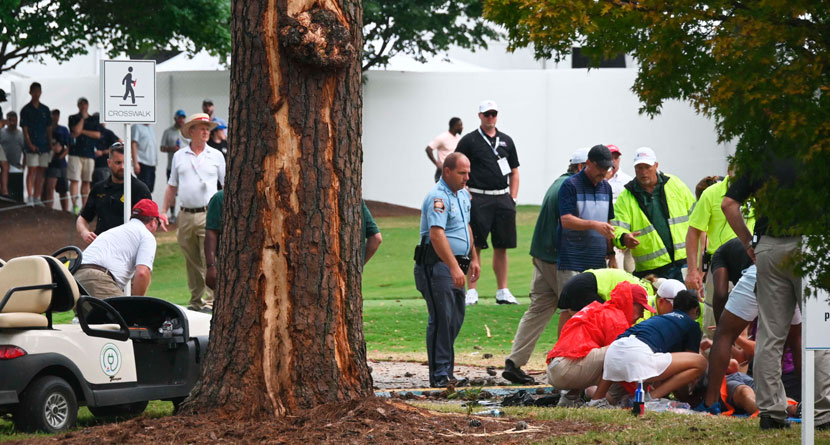 Lightning Strike Sends Tour Championship Fans To Hospital