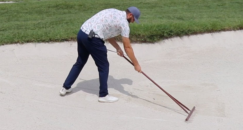 How To Perfectly Rake A Bunker Every Time