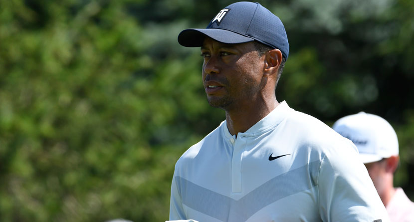 Tiger Withdraws From Northern Trust Due To Oblique Strain