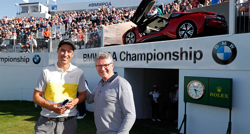 Fisher Makes Albatross, Wins $165,000 BMW