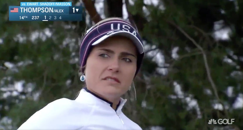 "Lexi Snaps At Caddie For ""Fore Right"" Shout"