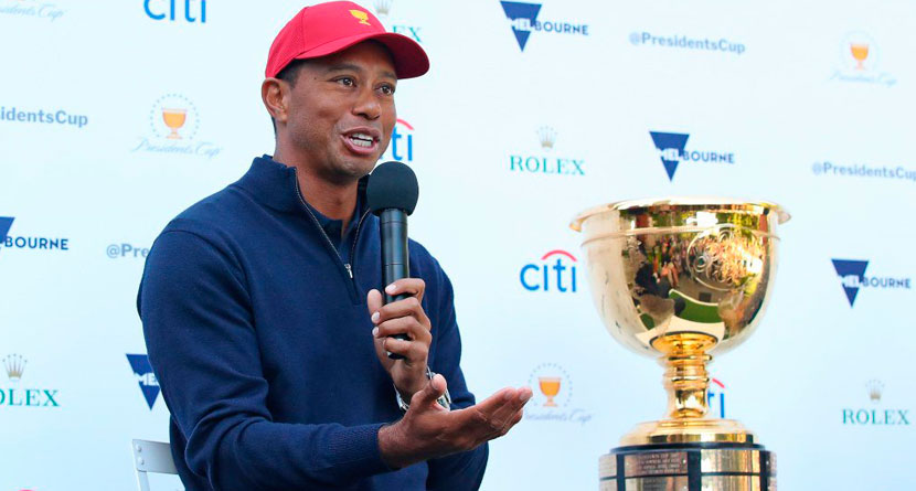 Tiger Hints At Being Presidents Cup Playing Captain In Blog