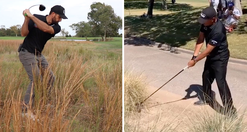 How'd He Hit That: Mickelson's Driver From A Bush