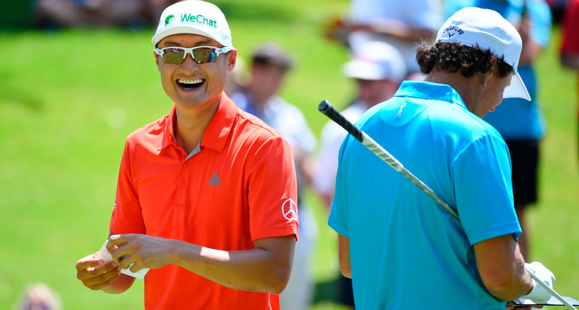Li Shares Story Of Hilarious Misquote With Mickelson