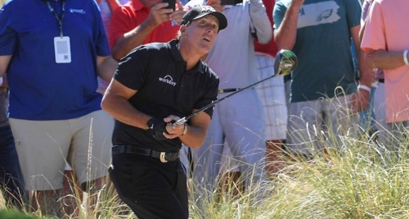 Mickelson Hits A Driver Out Of A Bush In Vegas