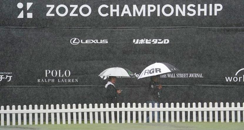 Typhoon Crushes Zozo, Forces Monday Finish