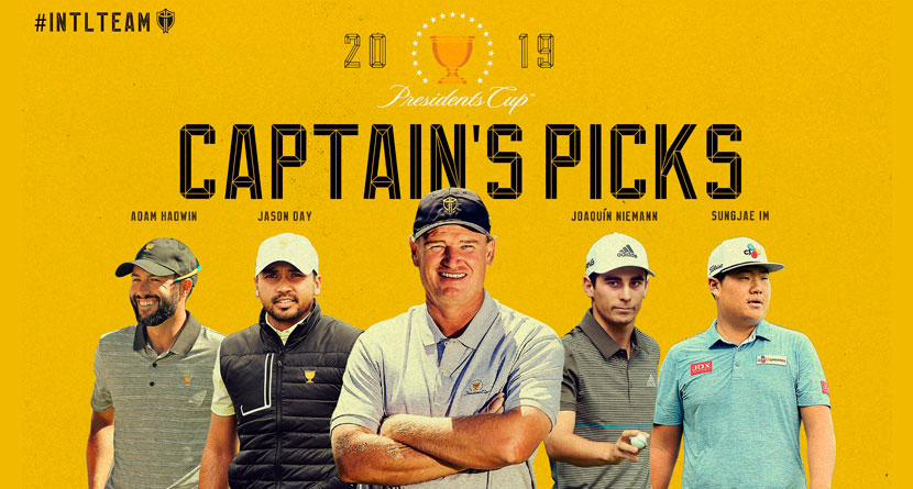 Els Makes Captain's Picks For Presidents Cup