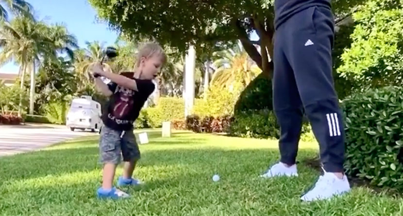 DJ's 2-Year-Old Son Shows Off Awesome Swing