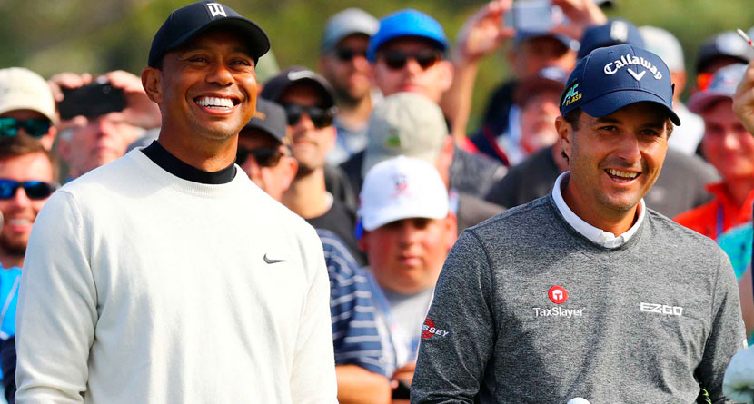 Kisner Hilariously Calls Out Tiger For Captain's Pick Snub