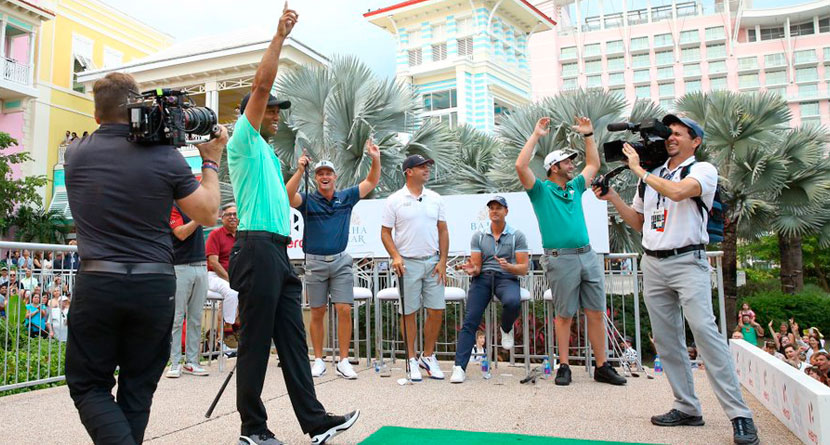 Tiger Beats Spieth At Hero Shot In Signature Fashion