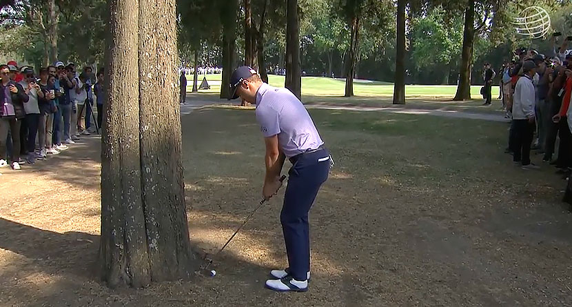 How'd He Hit That: Justin Thomas' Left-Handed Punch Out