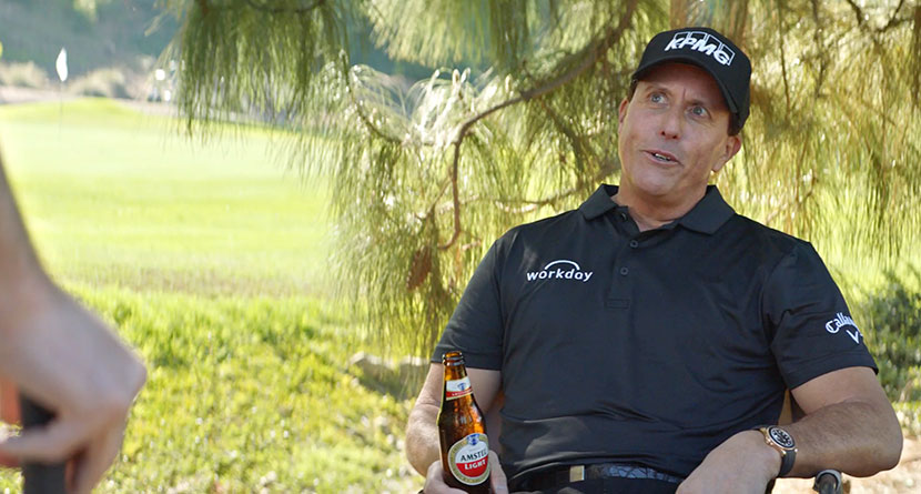 Mickelson Stars In Funny Amstel Light Commercial