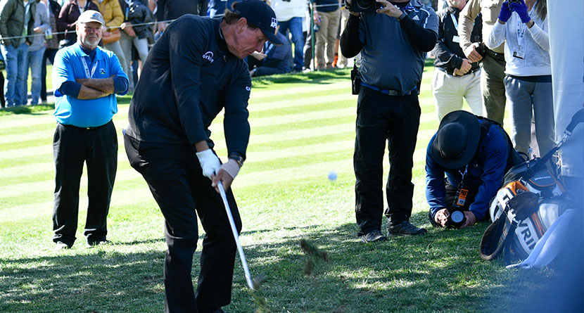 Phil Pulls Off Pair Of All-World Up-And-Downs