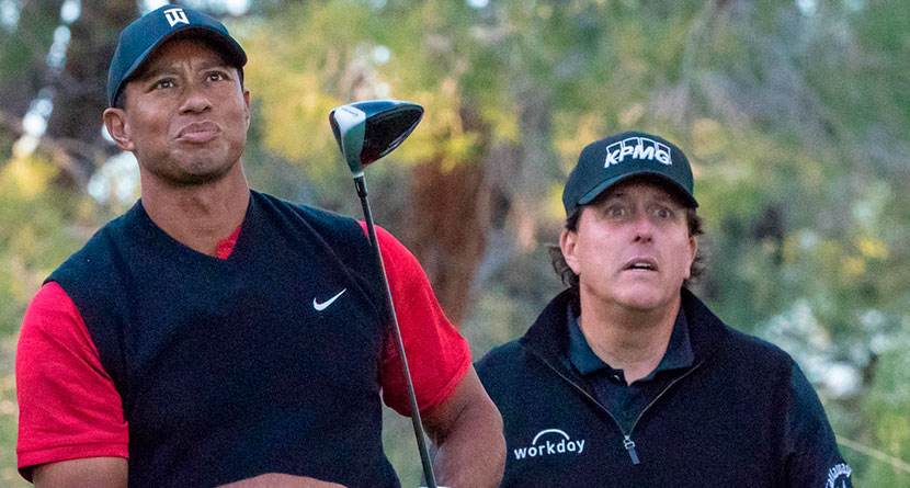 Reports: Tiger Vs. Phil 2 Happening Mid-May With Brady, Manning