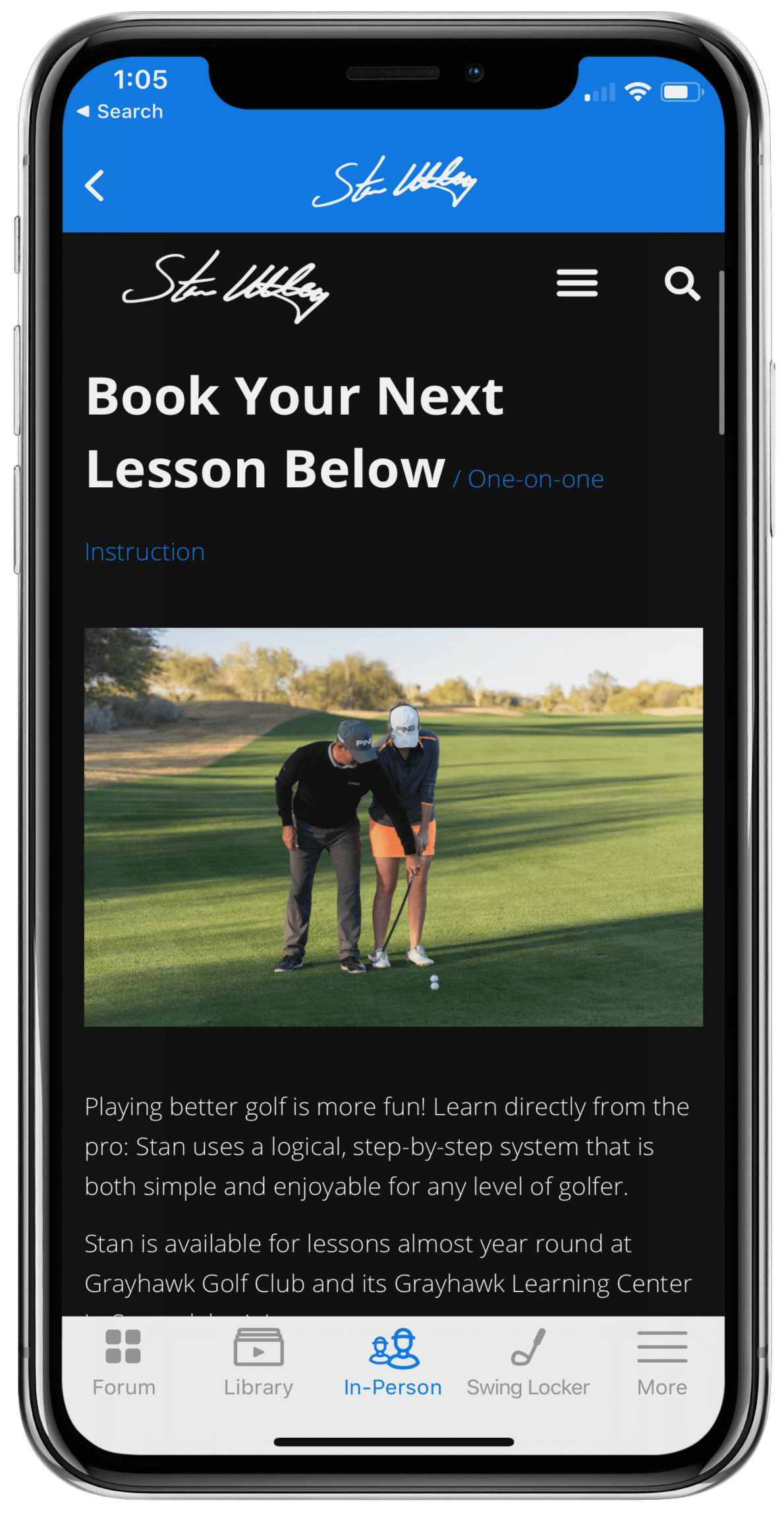 Discounted In-Person Lessons