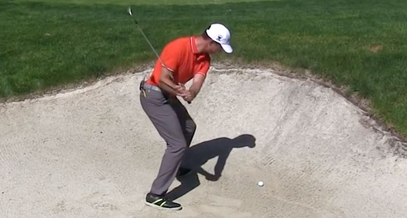 Hit High, Soft Bunker Shots Without Sidespin