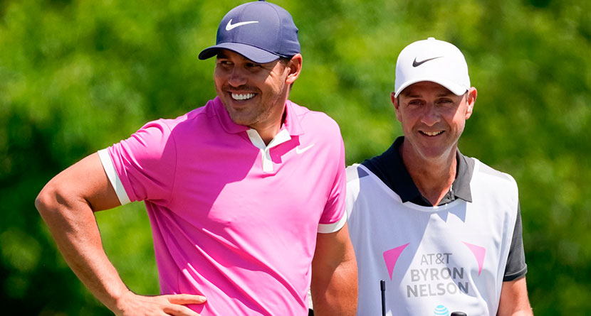 Koepka Shows Off Hilarious Chamblee Dartboard