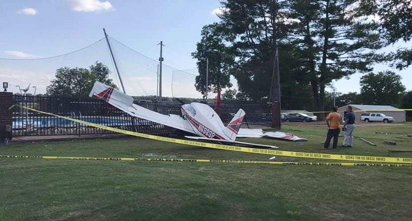 Plane Crash-Lands On Tennessee Golf Course