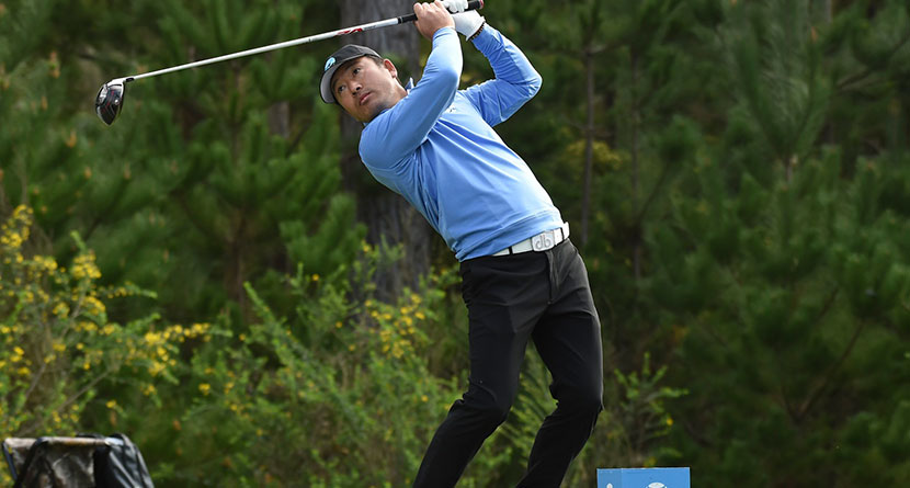 Viral Sensation Hosung Choi Whiffs With Driver At Korean Event
