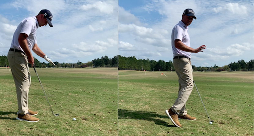 How To Play A Shot When The Ball Is BELOW Your Feet