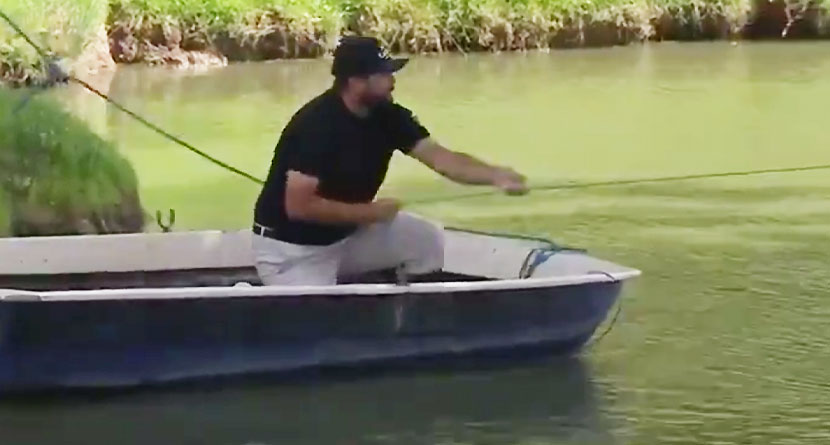 Tour Pro Requires Boat To Play Third Shot From Island