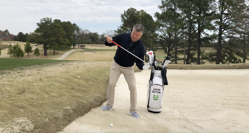 Set Up For Success On Downhill Lie Green-Side Bunker Shots