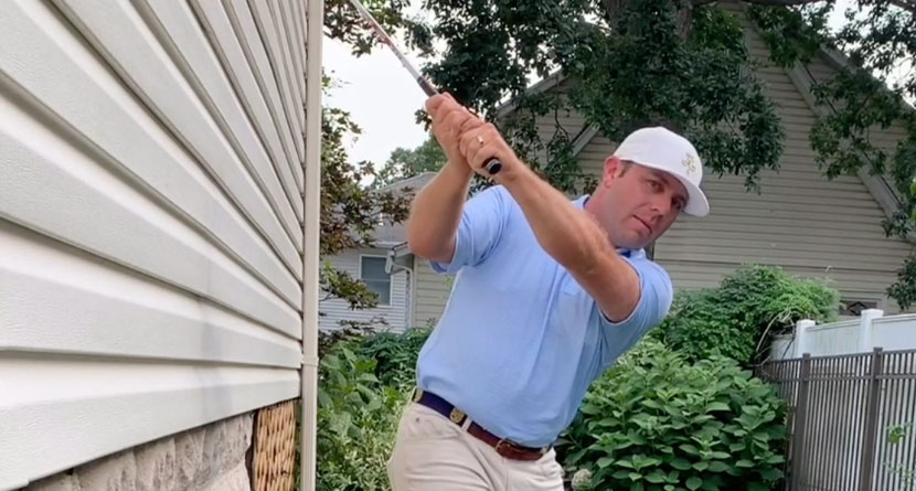 Shallow Out Your Swing At Home