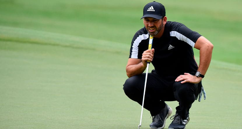 Sergio Wins Sanderson Putting With Eyes Closed