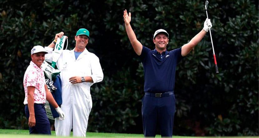 Jon Rahm Makes Skip-Shot Ace On 16 At Augusta