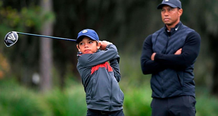 Charlie Woods Makes Public Golf Debut At PNC Championship