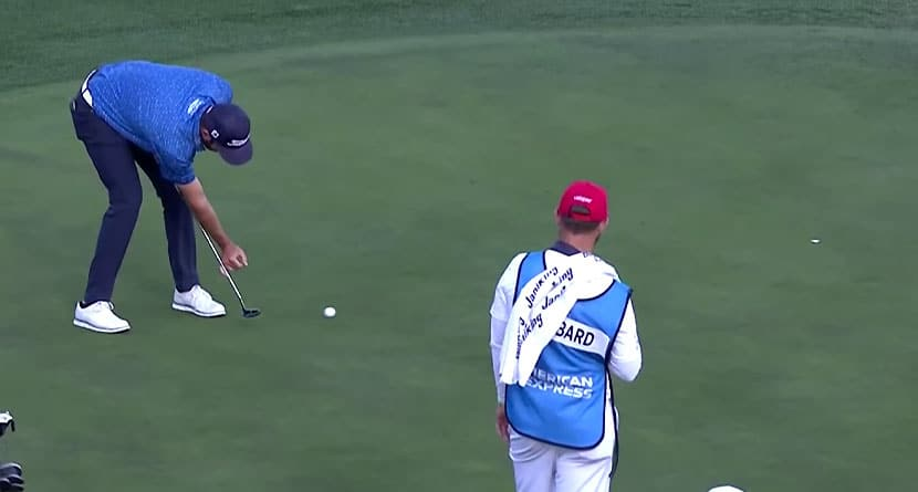 Pro Explains Reasoning Behind Bizarre Putting Grip At The American Express